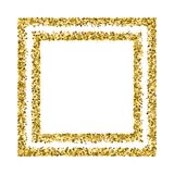 Gold glitter texture vector. Gold frame glitter texture isolated on white. Golden color of winners. Gilded abstract particles. Explosion of confetti shine Royalty Free Stock Photo