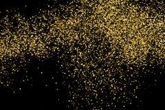Gold glitter texture vector. Gold glitter texture isolated on black. Celebratory background. Golden explosion of confetti. Vector illustration,eps 10 stock illustration