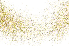 Gold glitter texture vector. Royalty Free Stock Image