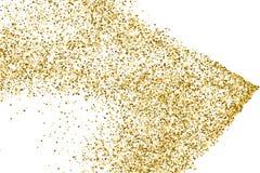 Gold glitter texture vector. Stock Photo