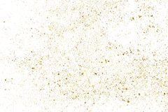 Gold glitter texture  on white. Royalty Free Stock Photos