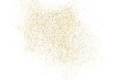 Gold glitter texture  on white. Stock Image