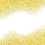Gold glitter textured border Stock Photography