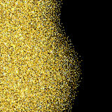 Gold glitter textured border Royalty Free Stock Photography