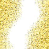 Gold glitter textured border Royalty Free Stock Photo