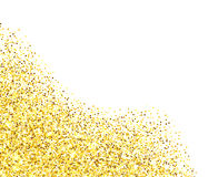 Gold glitter textured border Stock Photography