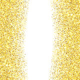Gold glitter textured border Stock Photos