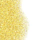 Gold glitter textured border Stock Photo