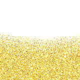 Gold glitter textured border Stock Images