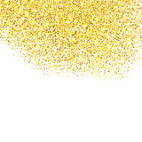 Gold glitter textured border Royalty Free Stock Images