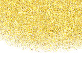Gold glitter textured border Royalty Free Stock Photos