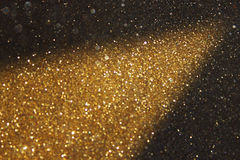Gold glitter trail lights Royalty Free Stock Photography