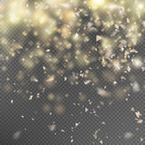 Gold glitter on transparent background. EPS 10. Gold glitter on transparent background. Sparkling texture. EPS 10 vector file included Royalty Free Stock Photos