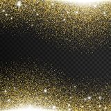 Gold glitter transparent background stock photos