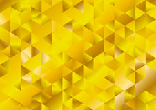 Gold glitter triangles mosaic technical background Stock Image