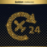 Gold glitter vector icon Royalty Free Stock Image