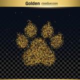 Gold glitter vector icon stock illustration