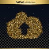 Gold glitter vector icon Stock Photo