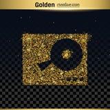 Gold glitter vector icon Stock Image