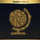 Gold glitter vector icon Royalty Free Stock Images
