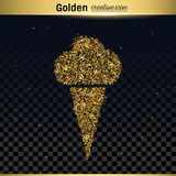 Gold glitter vector icon Royalty Free Stock Photography