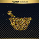 Gold glitter vector icon Stock Image
