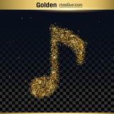 Gold glitter vector icon Royalty Free Stock Photos