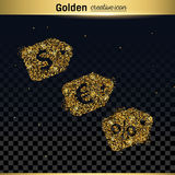 Gold glitter vector icon Stock Photography