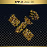 Gold glitter vector icon Stock Photos