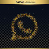 Gold glitter vector icon Royalty Free Stock Photo