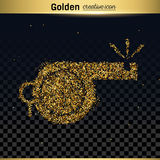 Gold glitter vector icon Stock Photos