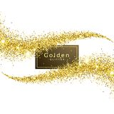 Gold glitter wave background. Vector stock illustration