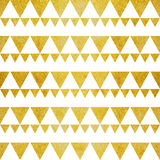 Gold glitter white triangles Stock Images