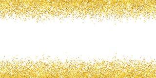 Gold glitter wide border backround. Vector. Illustration vector illustration