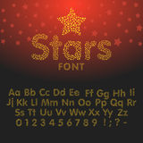 Gold glittering Alphabet of sparkles Stock Photo