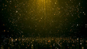 Gold Glittering Bokeh Glamour Abstract Background.  stock image