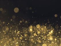 Gold Glittering Bokeh Glamour Background.  Royalty Free Stock Photo