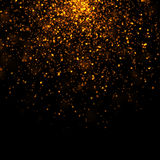 Gold glittering bokeh stars dust Stock Photos