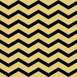 Gold glittering chevron wave seamless pattern. Classic zigzag template. EPS 10 royalty free illustration