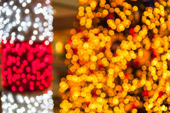 Gold glittering christmas lights Royalty Free Stock Photo