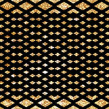 Gold glittering diagonal lines pattern on black background. Classic pattern. Vector design. Gold glittering diagonal lines pattern. Classic.Seamless geometric Stock Photo