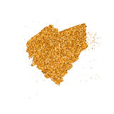 Gold glittering heart Royalty Free Stock Photo