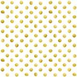 Gold glittering polka dot stains pattern Stock Image