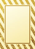 Gold glittering seamless lines pattern on white background. Gold glitter background. Border and gold frame. Seamless lines pattern white background. Gold Royalty Free Stock Photos