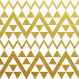 Gold glittering seamless pattern of triangles. On white background Royalty Free Stock Photography