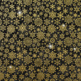 Gold glittering snowflakes. EPS 10 Royalty Free Stock Photo