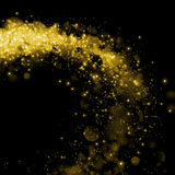 Gold glittering sparkle background Royalty Free Stock Images