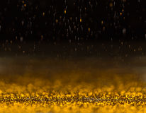 Gold glittering sparkle Royalty Free Stock Images