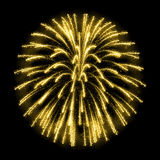 Gold glittering sparkle fireworks Stock Images