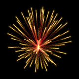 Gold glittering sparkle fireworks Stock Photography
